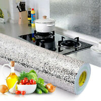 Oil-proof Waterproof Self Adhesive Aluminum Foil Wall Sticker Kitchen Home Decor