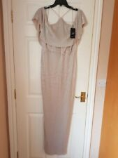 Adrianna Papell off The Shoulder Long Dress Size 14