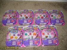 Shopkins Season 5 x7 5-Packs w/Petkin Backpacks + Bonus BRAND NEW SEALED