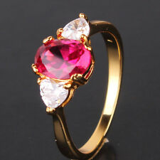 Promising ruby 24k yellow gold filled amazing party ring Sz5/J-Sz9/R