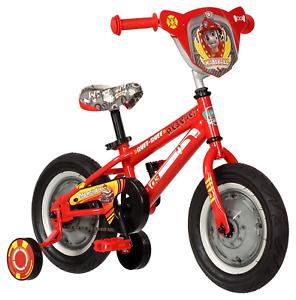 "PAW Patrol Marshall Boys Bike Kids Beginner Preschool Training Wheel Bicycle 12"""