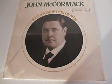 JOHN McCORMACK~LEGENDARY PERFORMER~IRISH TENOR~Factory Sealed LP CRM1-2472 MONO