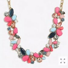 Sold Out! New$59.50 Bright Coral J Crew Factory Mixed Stones Necklace!