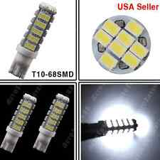 2PCS T10 68-SMD LED White Super Bright Car Reverse High Mount Stop Lights Bulbs