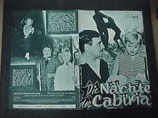 THE NIGHTS OF CABIRIA, orig Austrian Film program [Federico Fellini]
