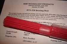 10 HTS-528 Brazing Rod Welding Repair Cast Iron Steel Metals- Built in Flux