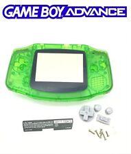 Coque de remplacement verte transparente neuve pour Nintendo GameBoy advance GBA