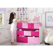 Kids Toy Storage Organizer Storage Bins Girls Room Playroom Multi Bin Toys Box