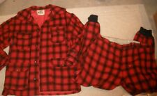 39150bb9ca615 VINTAGE WOOLRICH PLAID HUNTING JACKET COAT & PANTS - SIZE 42