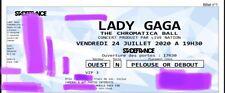 1 Place Package Pelouse Or Lady gaga 24 Juillet Paris Chromatica Ball Tour
