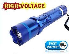 Blue 990 Million Volt Self Defense Rechargeabe Stun Gun 1101 + taser case