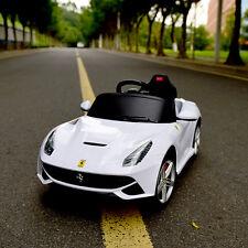 Ferrari F12 Kids Ride On Car Electric Power RC Remote Control Riding Toy White