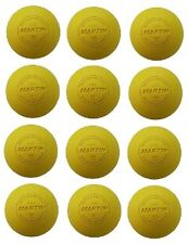 New Martin Dozen (12) Official Lacrosse Balls Nfhs Ncaa Nocsae Approved Yellow