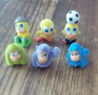 6 figurines piafs et gorilles   kinder .