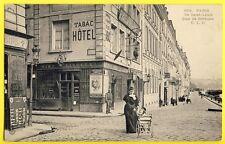 cpa PARIS ILE SAINT LOUIS QUAI de BETHUNE HÔTEL du PONT de la TOURNELLE Absinthe