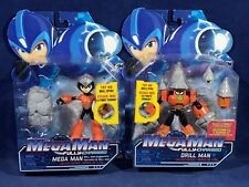 New 2 MEGA MAN Fully Charged DELUXE ACTION FIGURES - DRILL MAN & MEGA MAN