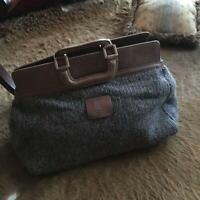 Brunello Cucinelli Travel Bag Boston Bag Cashmere & Leather