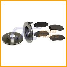 Front Brake Rotors with Brake Pads Kit Brembo/OP For: Honda CRX 1990 - 1991 Si