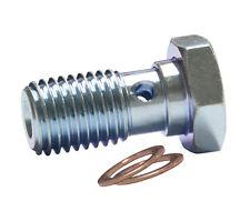 M10x1mm Banjo Bolt Zinc Custom Brake System AN-3 Hose Fitting 14mm Long Thread