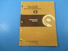 John Deere Operators Manual Om-Rg21891 Series 220 Oem Diesel Engines M5239