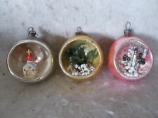 Vintage Japanese Glass Diorama Ornaments