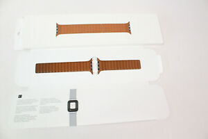 Apple Watch Band - Leather Link (44mm) - Saddle Brown - Small/Medium