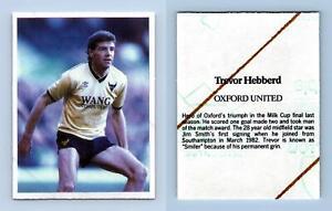 Trevor Hebberd - Oxford United - Stick With Soccer 1986 Sticker