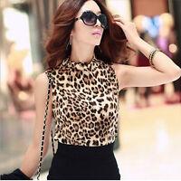 Fashion Leopard Womens Bottoming Shirt Tank Tops  Sleeveless Vest Stylish