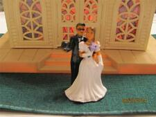 WEDDING COUPLE TRAIN FIGURE-for PLASTICVILLE CHURCH  O -S SCALE LIONEL AM. FLYER