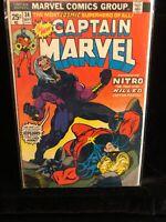 Captain Marvel #34 F+ 1974 Marvel Comic 1st Nitro