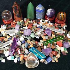 A lot of Natural Quartz Crystal Obelisk Wand&Ball&Pyramid Mineral  300g-1 lb