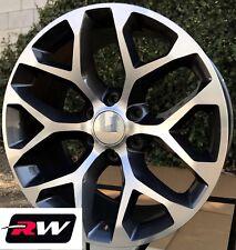 22 inch Chevy Silverado OE Replica Snowflake Wheels Gunmetal Machined Rims 6 lug