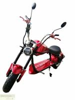 RED Electric Scooter 2000W Fat Tire Chopper Harley Style Motorcycle 60V Battery