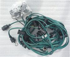 4,78€/m 10m Bachmann Lichterkette fertig montiert mit 10 Fassungen f. Glühbirnen