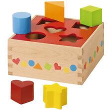 SORTBOX Steckbox Steckwürfel Steckspiel Formen-Sortier-Spiel Box Holz Motorik