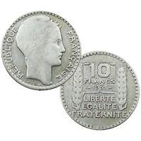 Pièce en Argent France 10 Francs type Turin Années Variées 1929 1939 Silver Coin