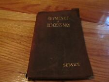 1916 RHYMES OF A RED CROSS MAN Robert W Service BARSE & HOPKINS NY SC LEATHER?