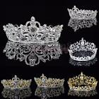 Crystal Rhinestone Queen Crown Tiara Wedding Pageant Bridal Diamante Headpiece