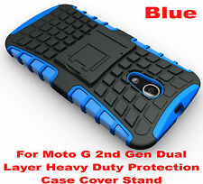 Blue Heavy Duty Tradesman Strong Case Cover For Motorola Moto G 2nd Gen 2014