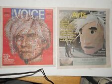 The Village Voice Andy Warhol *PLUS* Pic of 20 Foot Tall Pinata of Andy's Head