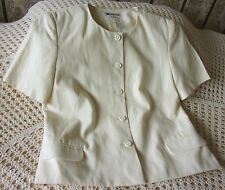 Vintage cream wedding / party jacket by MONSOON Size 14 Linen mix Made in UK