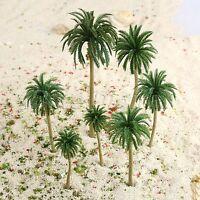 15Pcs HO N Multi Sizes Coconut Palm Model Trees Train Railroad Diorama Scenery
