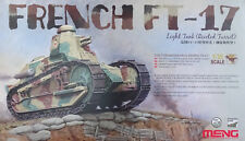 Meng Model Ts-011 French Ft-17 Light Tank (riveted Turret) In 1 35