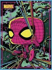 Target Exclusive Marvel Spiderman Black Light Funko Pop! POSTER - IN HAND!