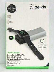 Belkin Valet Charger 6700 mAh Power Pack for Apple Watch + iPhone F8J201BTSLV