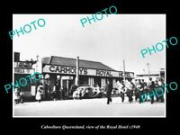 OLD LARGE HISTORIC PHOTO OF CABOOLTURE QUEENSLAND, THE ROYAL HOTEL c1940