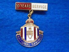 WWII HOME FRONT NATIONAL SAVINGS 10 YEARS SERVICE MEDAL & SUSPENDER, FATTORINI