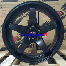 XXR 555 Wheels 18 x 8.5 10 +25 Flat Black Deep Dish Lip Rims 5x114.3 5x100 5x4.5