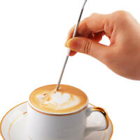 Stainless Steel Fancy Stitch Coffee Latte Art Needle Hook Home Kitchen Tool&&'