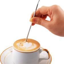 Edelstahl Phantasie Stich Kaffee Latte Art Nadel Haken Home Küche Werkzeuge RA